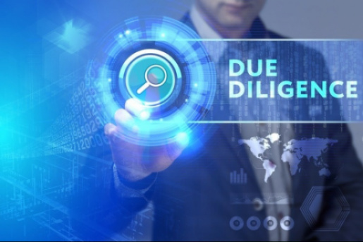 What are the stages of conducting due diligence?